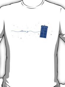 Allons-y to the TARDIS (in blue) T-Shirt