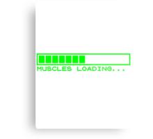 Muscles Loading Metal Print