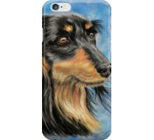 Marcus - Long Haired Black and Tan Dachshund  iPhone Case/Skin