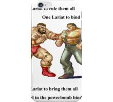 Zangief and Haggar, powerbombs and lariats iPhone Case/Skin
