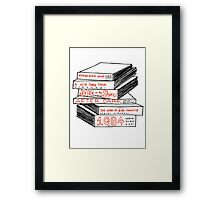 Haruki Murakami Book Stack Framed Print