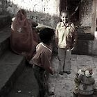 Playing at the temple by nisheedhi