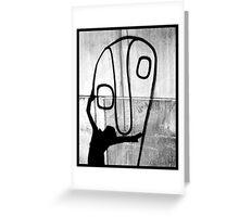 Big face hug Greeting Card