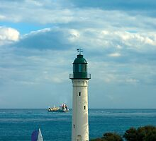 The White Lighthouse at Queenscliff, Australia by Andy Berry