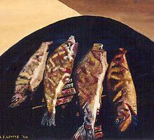Fish BBQ by C J Lewis