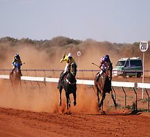 Coming To The finish At Mt Magnet by robert murray