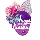 Hugs and Kisses Nature Print by TabithaBianca