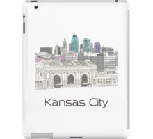 Hand Drawn Kansas City Skyline iPad Case/Skin
