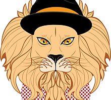 Lion Hipster by AnnArtshock