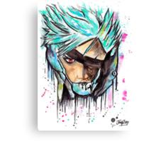 Metal Gear Solid Rising - RAIDEN - Grafitti art - T shirts + More Canvas Print