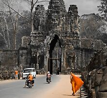 Gate to Angkor - Cambodia by Stephen Permezel