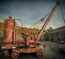 Vintage Steam Crane by Adrian Evans