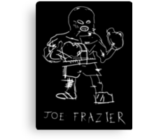 Joe Frazier - basquiat inspired Canvas Print