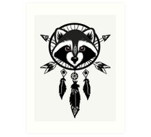 Raccoon Catcher Art Print
