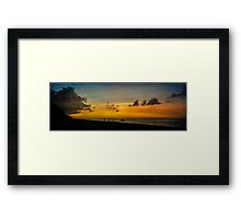 Puka Beach Sunset Framed Print