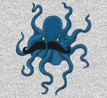 Octopus with a Mustache Kids Clothes