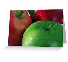 Apples Red & Green Greeting Card