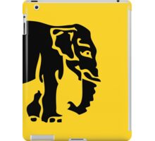 Caution Elephants Crossing ⚠ Thai Road Sign ⚠ iPad Case/Skin