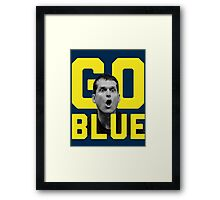 Jim Harbaugh GO BLUE Framed Print