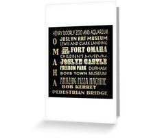 Omaha Nebraska Famous Landmarks Greeting Card