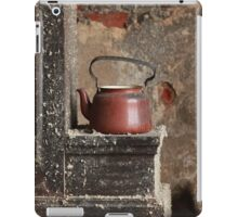 old teapot in an abandoned house iPad Case/Skin