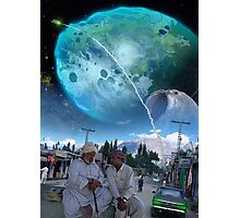 The New Abbottabad ایبٹ آباد Cluster of Terraformed Asteroids Photographic Print