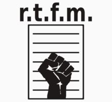 r.t.f.m. White Shirt with Manual and Fist by ramiro
