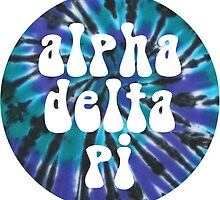 Alpha Delta Pi - Teal Tie Dye by adpithon