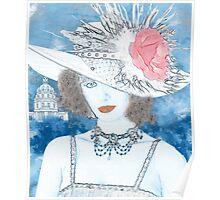 FEMME EN BLEU Poster