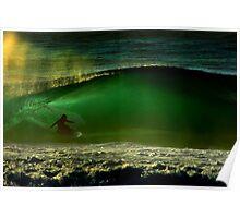albert munoz.kneeboard surfing Poster