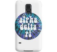 Alpha Delta Pi - Teal Tie Dye Samsung Galaxy Case/Skin