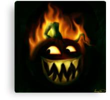 Jacks Hallowe'en fire Canvas Print