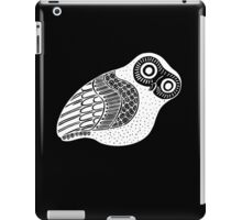 greek owl (white) iPad Case/Skin