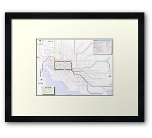 Melbourne train and tram map Framed Print