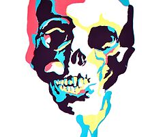 Silk Screen Skull by vowelless