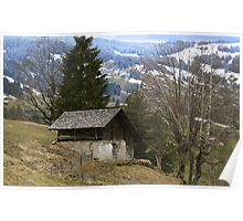 An Old, Wooden Chalet. Poster