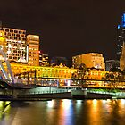 Melbourne Skyline @ Night by Alistair Wilson