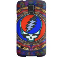 Grateful Dead Steal Your Face Skull / Jerry Garcia's Dancing Bears Tapestry Psychedelic Hippie Band Poster Samsung Galaxy Case/Skin