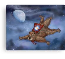 Phil Groundhog Superhero  Canvas Print
