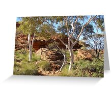 Pretty Ghost Gums, Kings Canyon. N.T. Australia Greeting Card