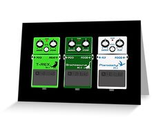 Dinosaur Effects Pedals Greeting Card
