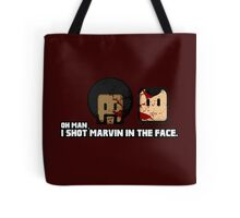 Toon Quote : Pulp Fiction - I Shot Marvin in the Face Tote Bag