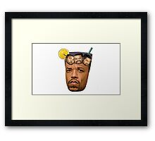 Just some Ice Tea with Ice Cubes Framed Print