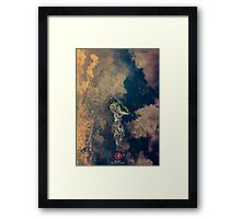 Nujabes - Land of the samurai vinyl poster Framed Print