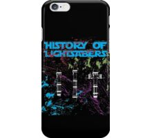 History of Lightsabers iPhone Case/Skin