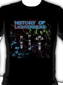 History of Lightsabers T-Shirt