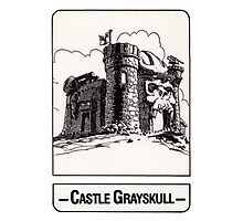 He-Man - Castle Grayskull - Trading Card Design Photographic Print