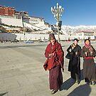 Tibetans, The Potala, Tibet by Hugh Chaffey-Millar