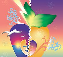 Broken Dreams - Abstract Illustration by lydiasart