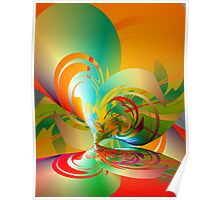 Abstract Heart Reflection Poster